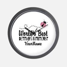 World's Best Dietitian Wall Clock