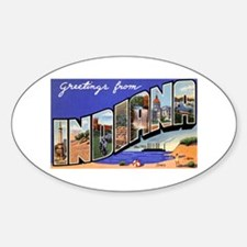 Indiana Greetings Oval Decal