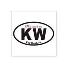 KeyWestovals2010cpmarried Sticker