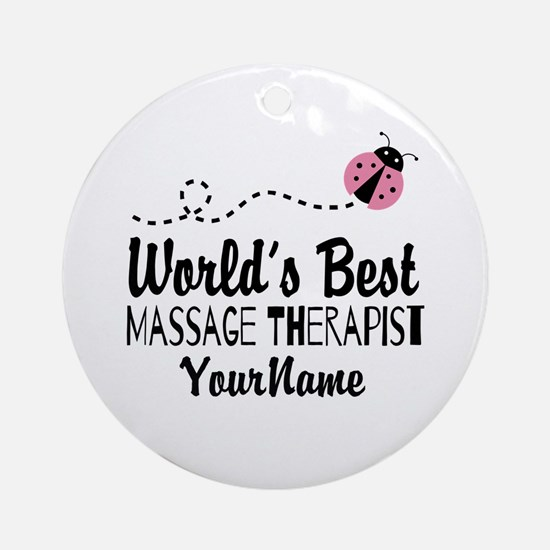 World's Best Massage Therapist Ornament (Round)