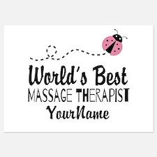 World's Best Massage Therapist 5x7 Flat Cards