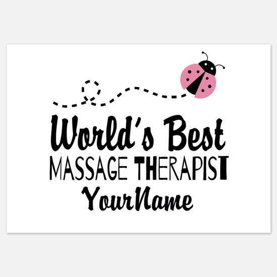 World's Best Massage Therapist 5x7 Flat Cards
