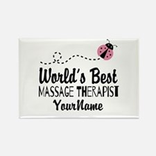 World's Best Massage Th Rectangle Magnet (10 pack)
