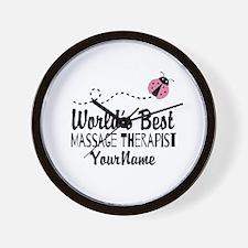 World's Best Massage Therapist Wall Clock
