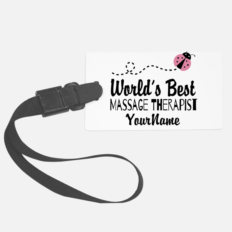World's Best Massage Therapist Luggage Tag