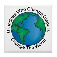 Grandpas Who Change Diapers Tile Coaster