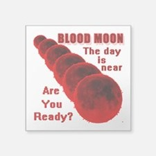 "Blood Moon Square Sticker 3"" x 3"""