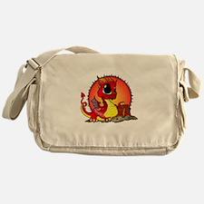 Baby Dragon Guarding Treasure Messenger Bag