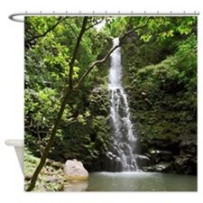 Hawaii Tropical Waterfall Shower Curtain