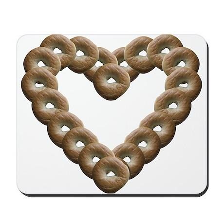 Bagel Heart Mousepad