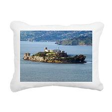 Alcatraz Island aerial v Rectangular Canvas Pillow