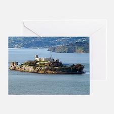 Alcatraz Island aerial view Greeting Card