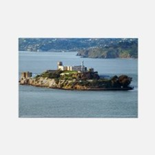 Alcatraz Island aerial view Rectangle Magnet