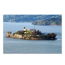 Alcatraz Island aerial vi Postcards (Package of 8)