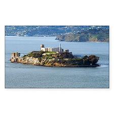 Alcatraz Island aerial view Decal