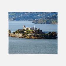 Alcatraz Island aerial view Throw Blanket