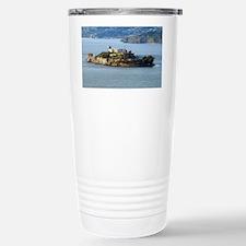 Alcatraz Island aerial  Stainless Steel Travel Mug