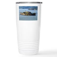 Alcatraz Island aerial  Travel Mug
