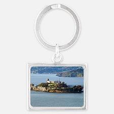 Alcatraz Island aerial view Landscape Keychain