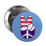 Patriotic Peace Hand Button