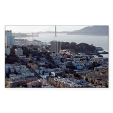 golden gate bridge and city Decal
