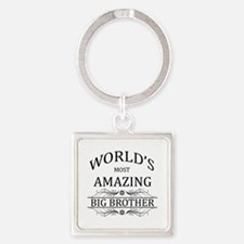 World's Most Amazing Big Brother Square Keychain