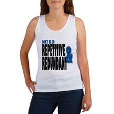 Repetitive and Redundant Blue Women's Tank Top