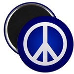 Blue Peace Sign Magnet