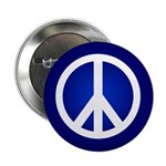 Blue Peace Sign Button (10 pack)