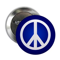Blue Peace Sign Button