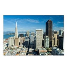 sunny downtown san franci Postcards (Package of 8)