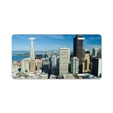 sunny downtown san francisc Aluminum License Plate