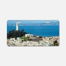 Telegraph Hill and Coit Tow Aluminum License Plate