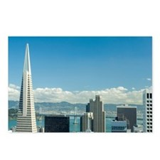 san francisco city view Postcards (Package of 8)