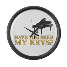 Have you seen my keys? Large Wall Clock