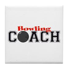 Bowling Coach Tile Coaster
