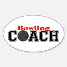 Bowling Coach Oval Decal
