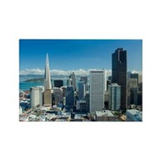 san francisco city view Rectangle Magnet