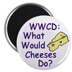 WWCD: What Would Cheeses Do? Magnet