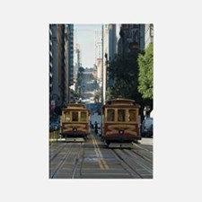 california street cable car Rectangle Magnet