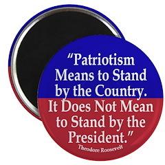 What Patriotism Means (Quote) Magnet