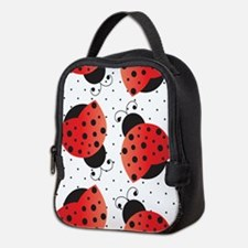 Cute Ladybugs Neoprene Lunch Bag