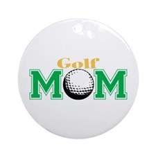 Golf Mom Ornament (Round)