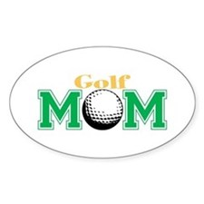 Golf Mom Oval Decal