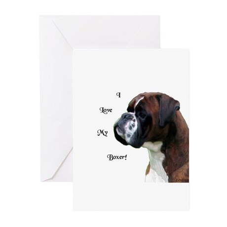 I Love My Boxer Greeting Cards (Pk of 10)