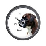 I Love My Boxer Wall Clock