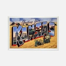 Kansas Greetings Rectangle Magnet