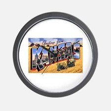 Kansas Greetings Wall Clock