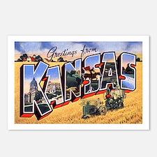 Kansas Greetings Postcards (Package of 8)