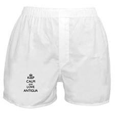 Keep Calm and Love Antigua Boxer Shorts